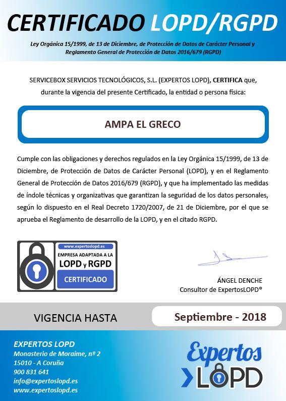 Certificado RGPD-EXP